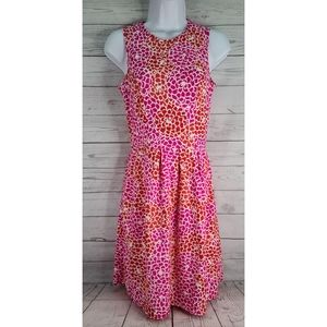Jude Connally Dress Pink Red Floral Sleeveless
